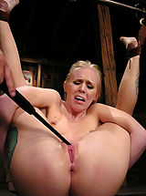 Sexy blond gets tied up hard, abused, DP'd and forced to CUM.