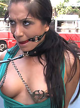 Romanian super slut Lea Lexus gets tied up and fucked in public!