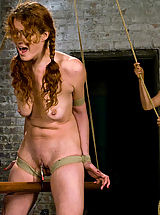 Donna shocks, tortures and fists willing submissive Sabrina