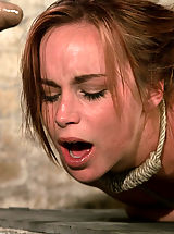 Hot Bella double teamed and made to slurp her own squirt