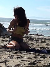 Latina beach slut violation