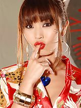 Asian Wife Marica Hase In Roleplay Plays With Her Exotic Rose