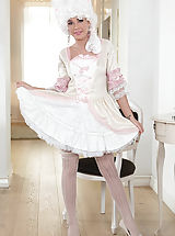 Naked Vintage Girls, Cosplay Cutie - A fingering Babe from Another Era