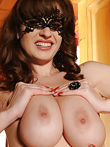 Sultry Model LaTaya Roxx Gets Nude, Flirts Through Her Mask