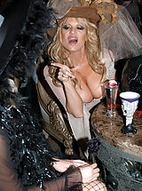 Kelly Madison and Armani St. James take a ride on a monster and get their natural tits fucked.